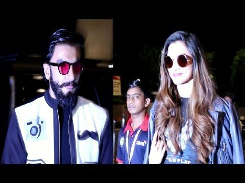 LOVEBIRDS Ranveer Singh & Deepika Padukone spotted at Mumbai airport.