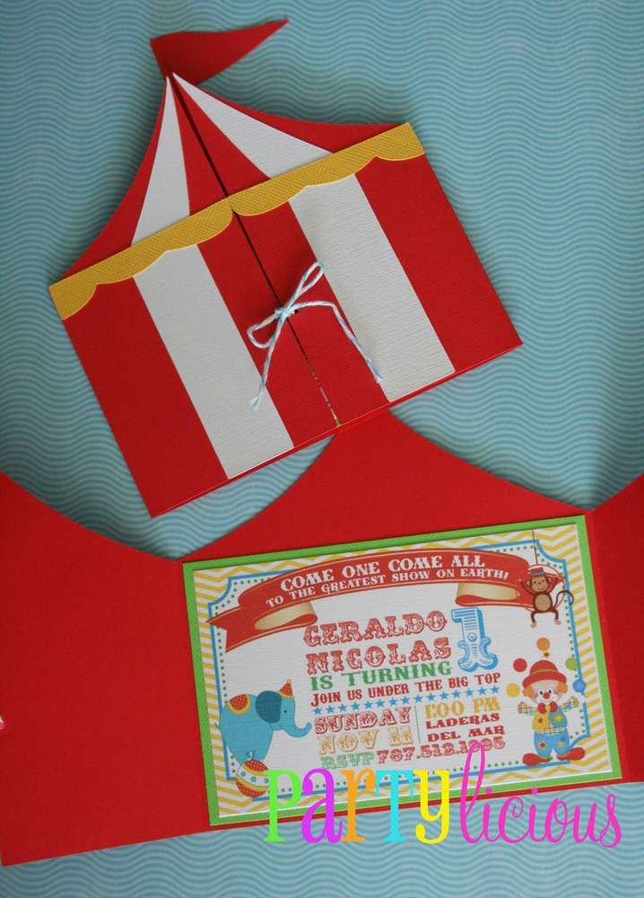 Circus Birthday Party Ideas | Photo 2 of 25 | Catch My Party