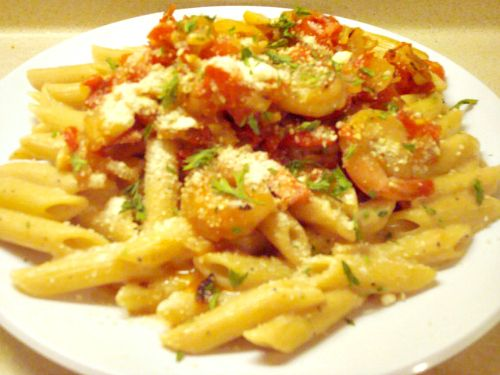 Shrimp Pasta Parmesan (Ruby Tuesday Copy Cat Recipe)