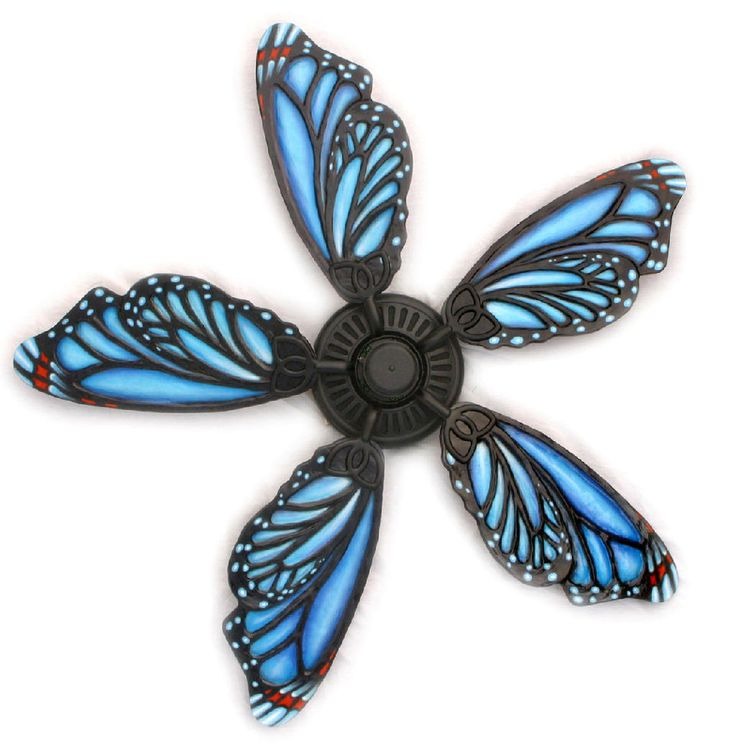 Hand-made butterfly fan blades