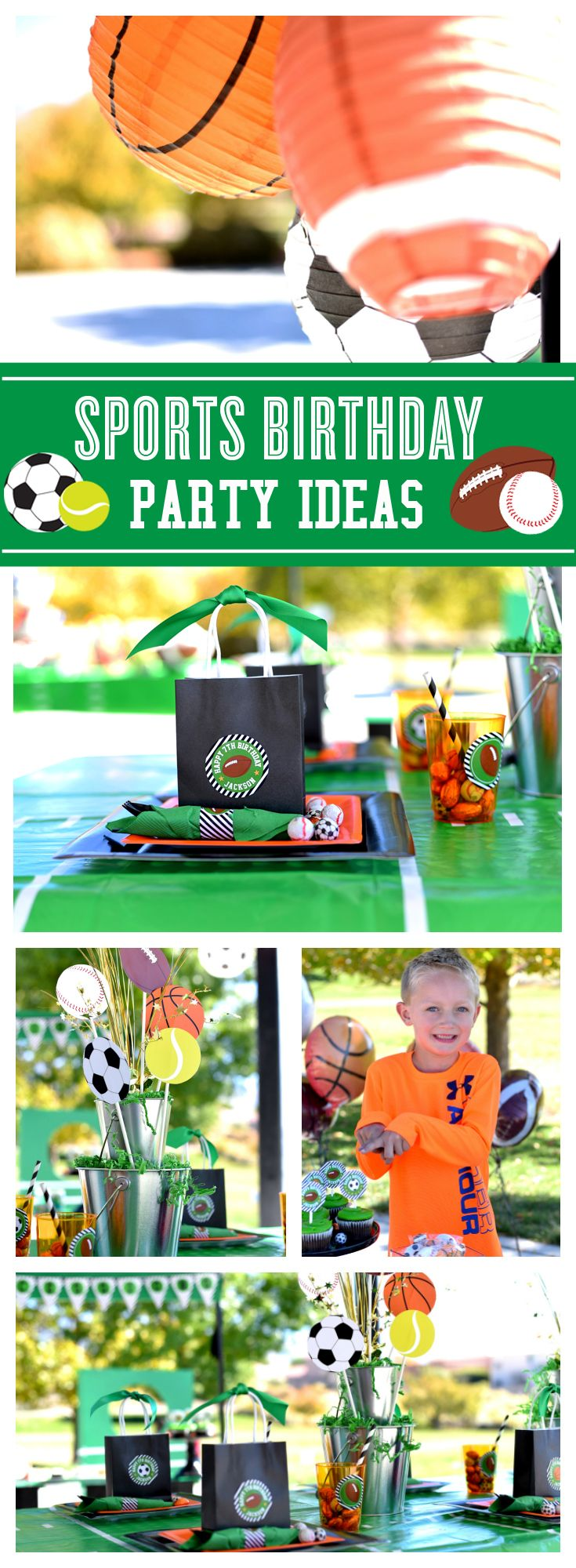 Can't get enough of these Sports Birthday party ideas