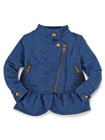 Fleece Moto Jacket - Baby Girl Outerwear - RalphLauren.com