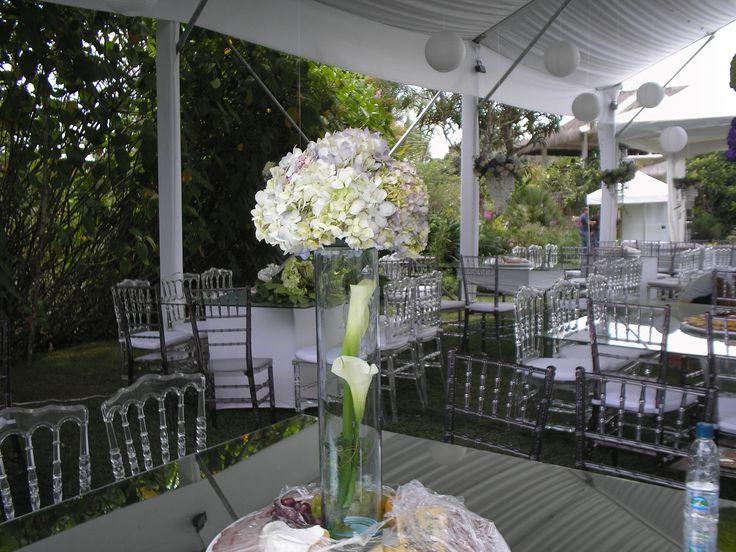 Flores de bodas rojas - Decoracion con hortensias ...