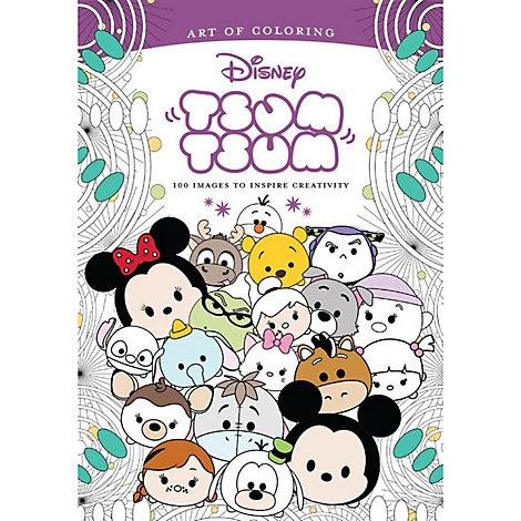 Tsum Tsum Coloring book. You can order yours today by clicking the pin,