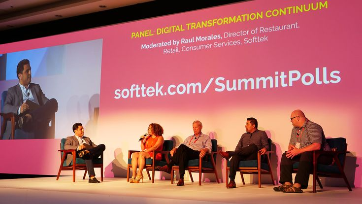 Panel Session: Digital Transformation Continuum Russ Mayer, Senior Advisor, Boston Consulting Group  Romina Marchese, IT Manager, Godrej Ron Mardenly, Former VP of Technology Operations, Staples  Roberto Maranca, Chief Data Officer, Lloyds Bank  Francisco Martinez, LATAM Partner Technology Strategist, Microsoft  Moderated by Raul Morales, Director of Restaurant, Retail, Consumer Services, Softtek. Digital Innovation Summit 2018, February 23rd, 2018.