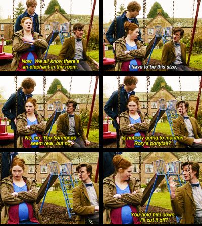 xD poor Rory.. but really, that ponytail has to go!