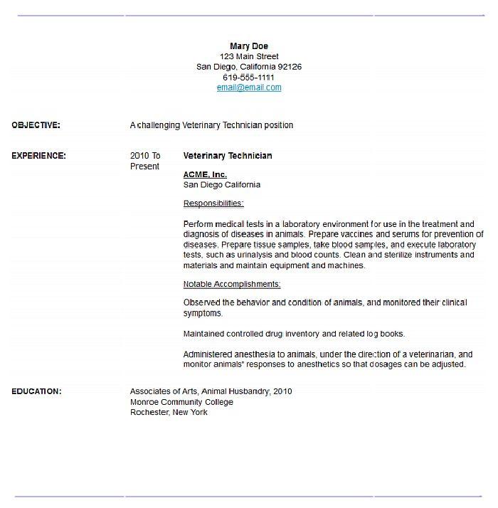 25+ melhores ideias de Resume maker no Pinterest Currículo - veterinary technician resume samples