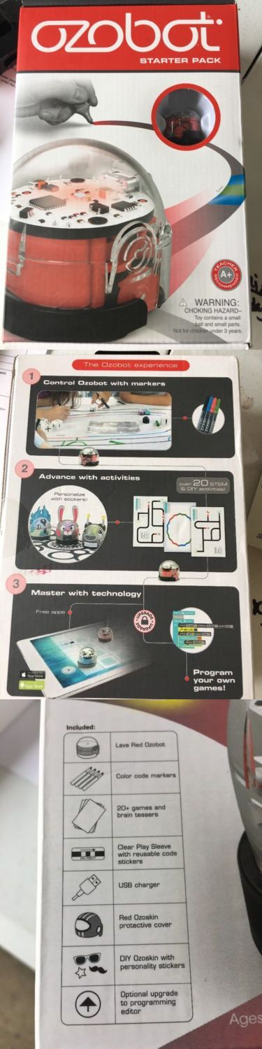Other Interactive Toys 232: Ozobot Starter Pack New Sealed Stem Robot Toy Programmable Robot -> BUY IT NOW ONLY: $49.99 on eBay!