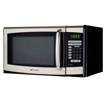 smaller microwave for kitchen built in / Emerson 0.9 Cu. Ft. Stainless Steel Microwave Oven, Target $75