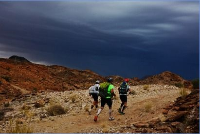 "KAEM 2015 Extreme Marathon, a unique race filled with adventure and determination, in the beautiful and contrasting landscape of South Africa's ""Green Kalahari"". a self-sufficiency run held over six legs in seven days with set distances for each day, ranging from 28km to 75km. Participants must carry all their supplies, clothes and compulsory safety/survival equipment for the duration of the event. Overnight shelter in camps, and water, which is strictly controlled and distributed during the…"