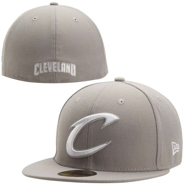 Mens Cleveland Cavaliers Gray Team Logo 59FIFTY Fitted Hat, Your Price: $34.99