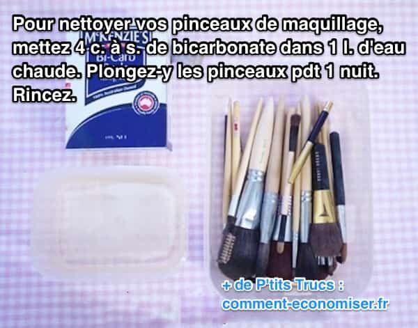 Mon esthéticienne m'a confié un truc bien pratique pour les désinfecter facilement à la maison. L'astuce économique est de se servir du bicarbonate de soude. J'ai testé, et ça marche. Regardez :  Découvrez l'astuce ici : http://www.comment-economiser.fr/bicarbonate-de-soude-nettoyage-pinceaux-maquillage.html?utm_content=buffere22a5&utm_medium=social&utm_source=pinterest.com&utm_campaign=buffer