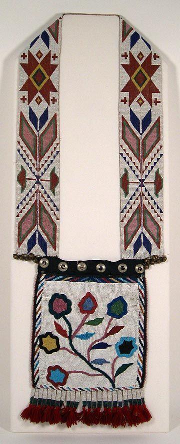 ojibwe beadwork patterns   Beadwork Masterpieces: Native American Bandolier Bags, Omaha