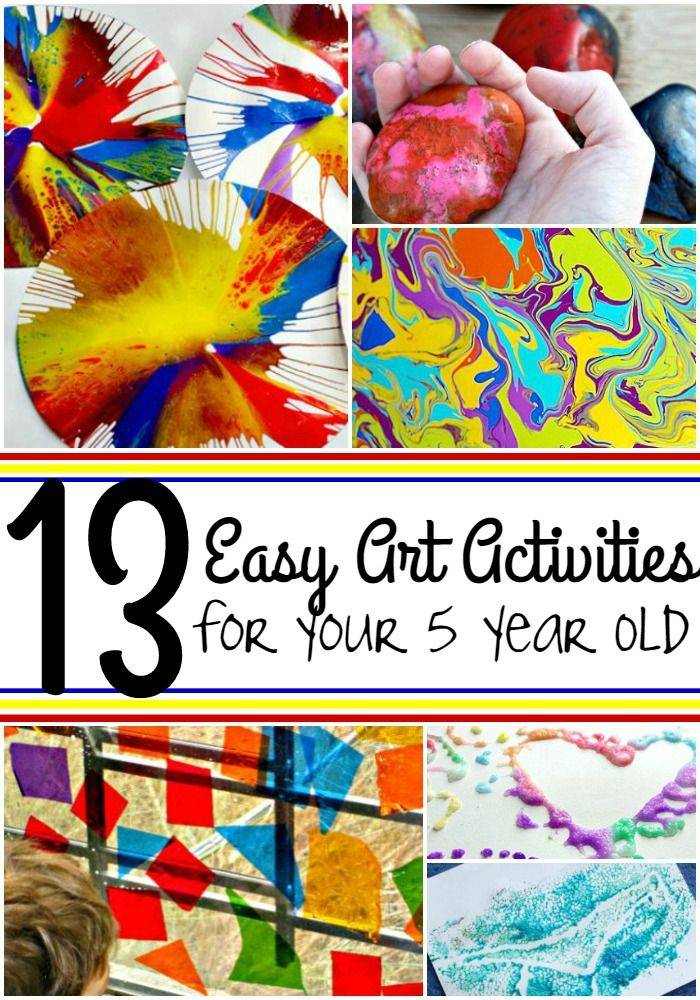 You'll have a blast with these 13 easy art activities for your 5 year old! From rock painting to spin art to melted crayons, your 5 year old will love these