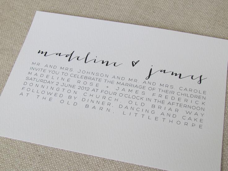 modern calligraphy wedding invitations 360 via etsy design envy pinterest modern calligraphy weddings and wedding - Calligraphy Wedding Invitations