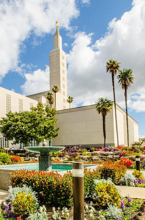 LA Temple Gardens.  The Los Angeles, California, LDS (Mormon) temple was awesome. It wasn't the architecture that captured my eye as much as the mature landscaping that softened the hard lines of it's architecture to give me some very stunning views of this religious building.