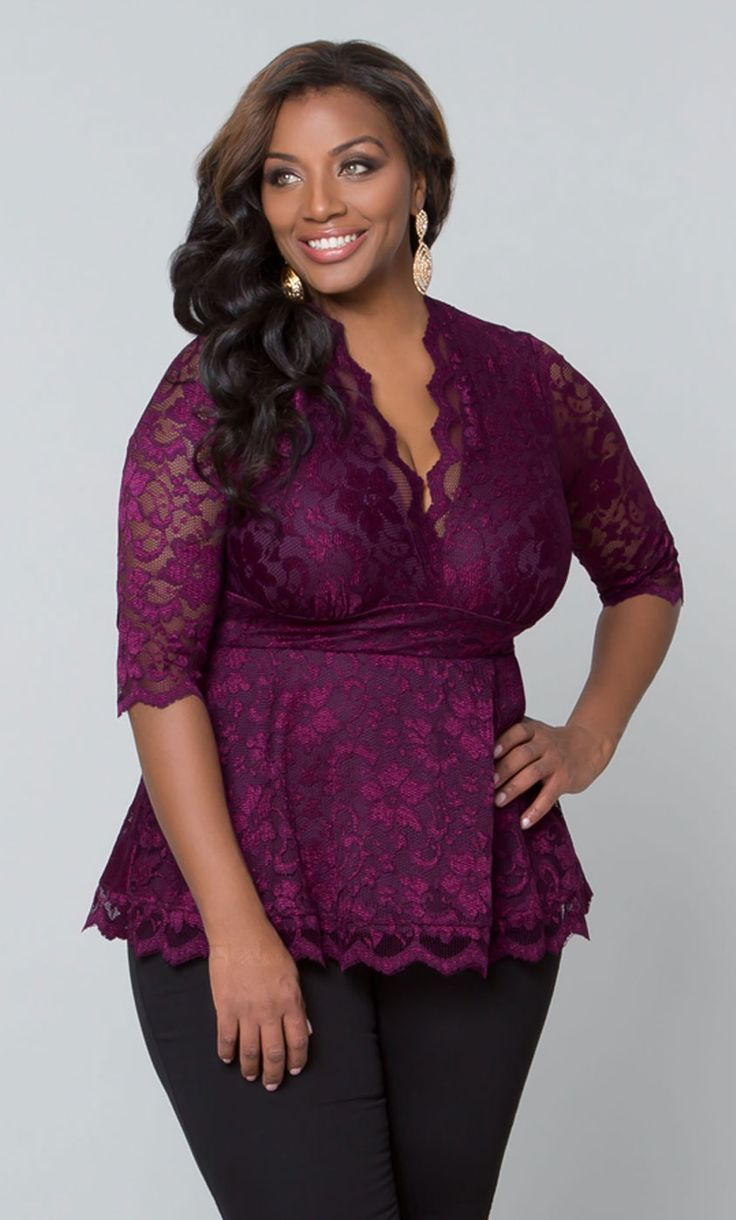 172 best Plus Size Style: Lace images on Pinterest