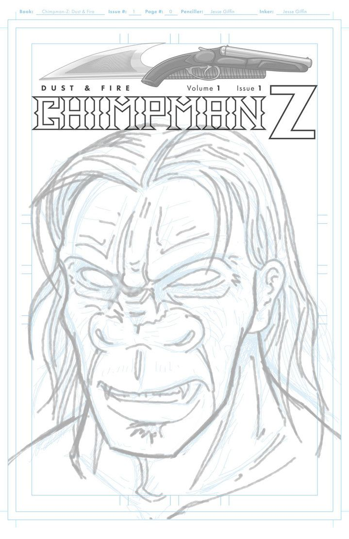 Chimpman-Z  - Issue 1 cover sketch by JesseGiffin
