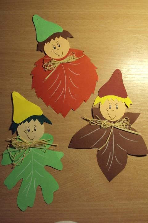 Leaf Scarecrows