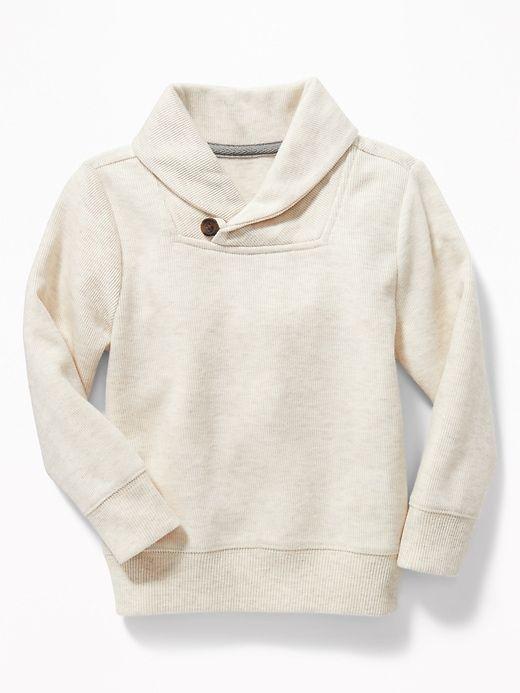 76abeae1c0a5 French-Rib Shawl-Collar Sweater for Toddler Boys