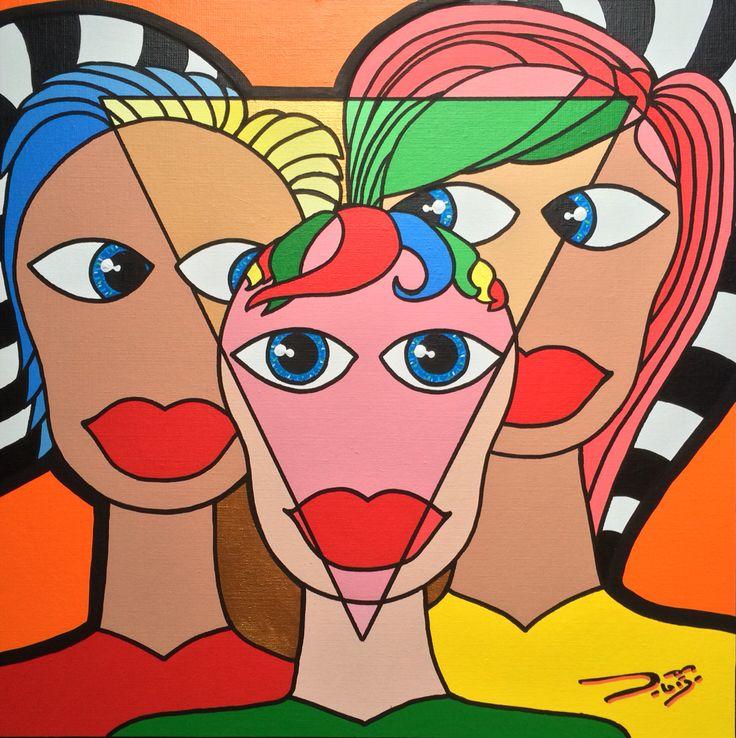 Love triangle 50 X 50 Artist: josdebije.nl