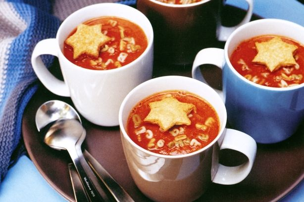 Roasted tomato soup with toast stars main image