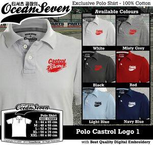 Baju Kaos Polo Castrol Logo 1