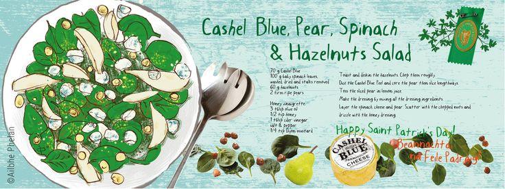 A Green Irish Salad: Cashel Blue, Pear Spinach & Hazelnuts by Ailbhe Phelan