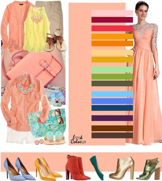 Сочетание с персиковым цветом На мой взгляд, это классический персиковый цвет: на стыке розового и оранжевого. Мягкий лучистый, невинный, беззаботный. Этот оттенок подходит всем цветотипам без оговорок. Незаменимый на пляже и отдыхе. Каждый, в ком хоть капельку живет дух романтичного приключения (не обязательно на любовном фронте) должен иметь в гардеробе хоть одну персиковую вещь. Он сможет перенести вас в беззаботный мир грез, где нет четких правил и норм, где законом являются только ваши…