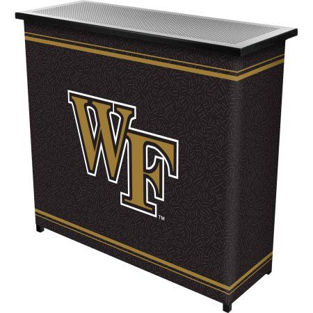 Wake Forest University 2-Shelf Portable Bar with Carrying Case, Multicolor
