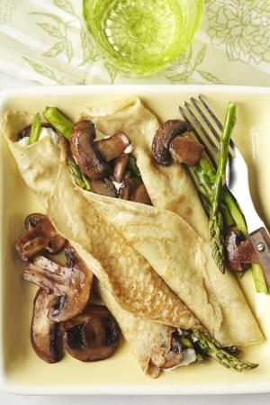 Chicken and Mushroom Stuffed Crepes (Blini) Recipe