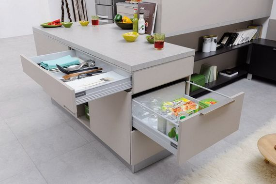 Smart kitchen storage ideas for small spaces diy living room smart kitchen and storage - Kitchen storage ideas for small spaces ...