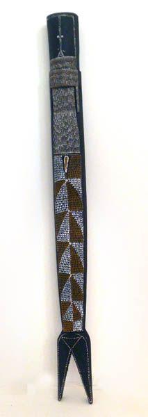 Owen Yalandja  Yawk Yawk  2012  synthetic polymer paint on wood  74 x 7 cm  $1,600 AUD