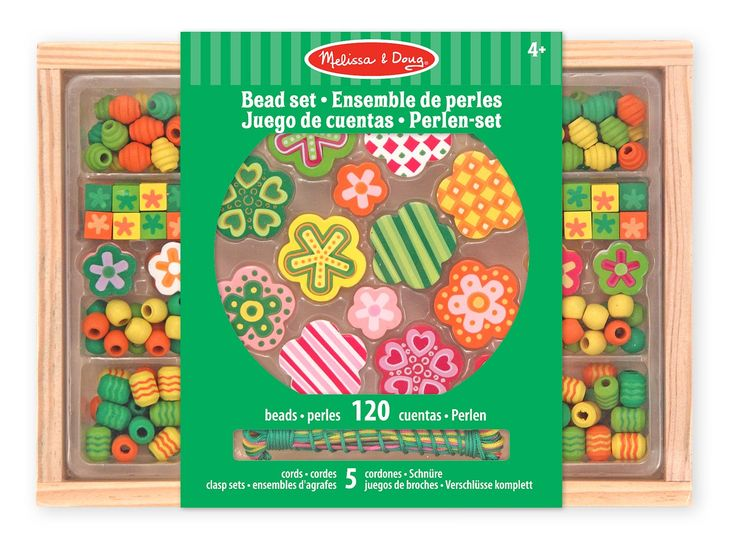 Melissa & Doug Flower Power Bead Set: Amazon.co.uk: Toys & Games
