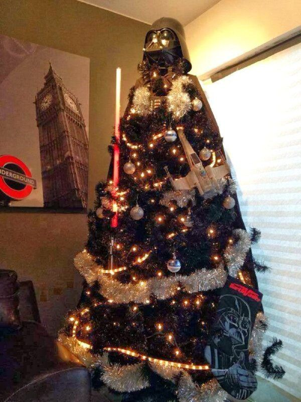 get in the holiday spirit with a star wars christmas tree reel cool pinterest christmas star wars christmas tree and star wars christmas