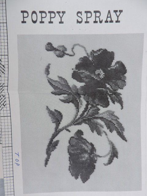 SeeSallySew.com - Poppy Spray Floral Jean McIntosh Ltd Petit Point Chart M - 176 Needlework  , $8.00 (http://stores.seesallysew.com/poppy-spray-floral-jean-mcintosh-ltd-petit-point-chart-m-176-needlework/)