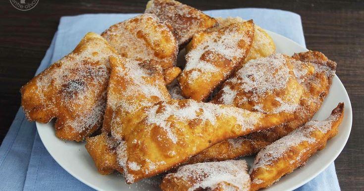 Cocinando entre Olivos: Orejas gallegas de carnaval. Receta paso a paso.