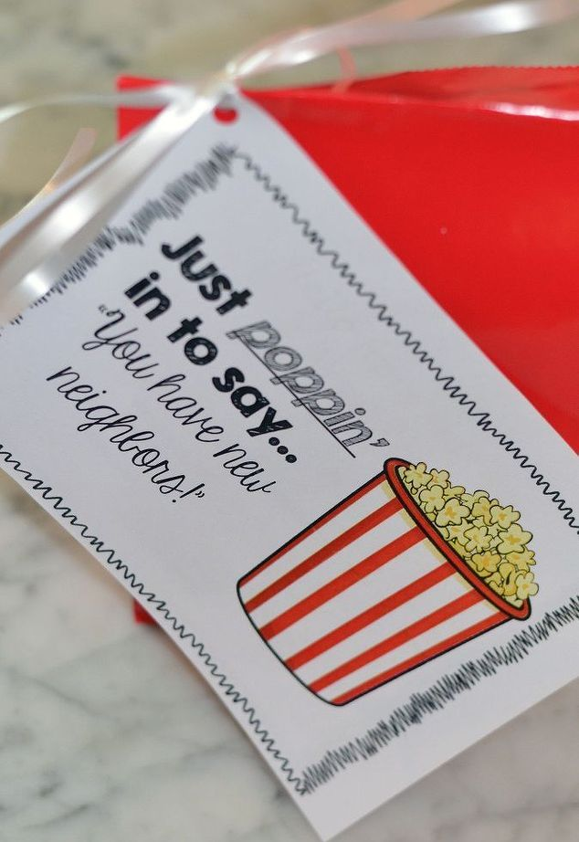 New Neighbor Welcome Gift  Or Step it up with a Popcorn Tub here  http://fixfind.com/Home/ProductInquiry/ProductDetail.aspx?ItemID=1-9444 #Home #Tub #Popcorn
