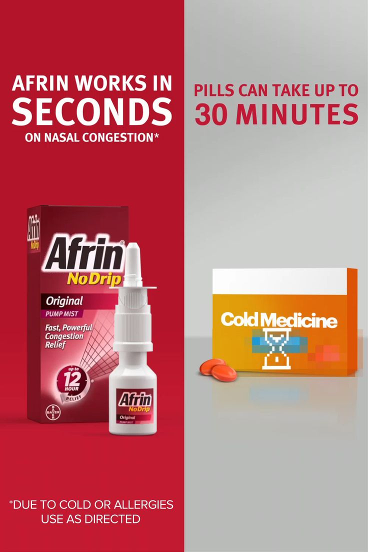 Get instant relief from nasal congestion. Afrin starts working in seconds.