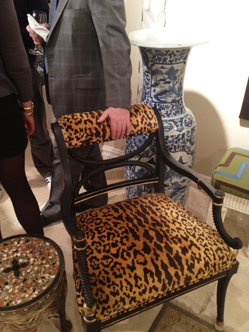 I must have a leopard chair.