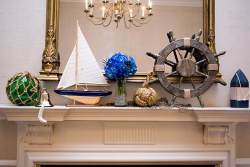 Nautical themed using knot board for fireplace decor ideas Decorative Knot Boards to Make Nautical Theme Home Decor Ideas