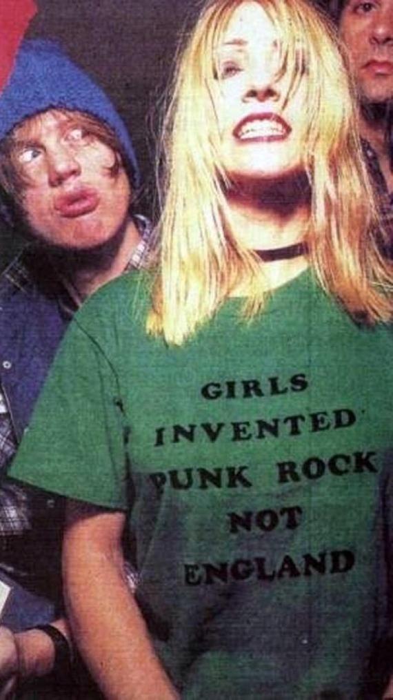 25a9d0db33b7a Girls Invented Punk Rock Not England UNISEX T-Shirt