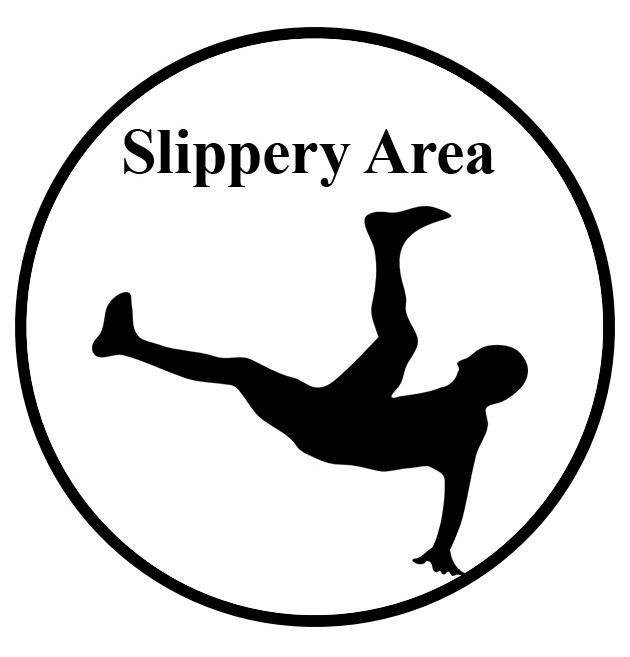 slippery area ahead sign 1 sign products Health Care Personal Protective Equipment slippery area ahead sign 1 sign