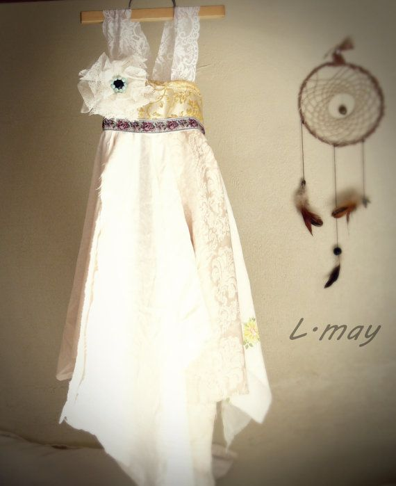 made to order  country  hippie bohemian  flower girl by ledamay, $60.00