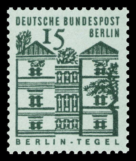 Deutsche Bundespost Berlin 1965 Schloss Tegel In Berlin