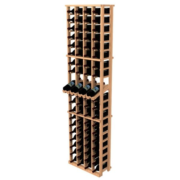 This Redwood four column wine bottle rack features 20 rows for storing 80 wine bottles plus one on top. Sort and show off your fine wine collection with this convenient wine rack. Brand: Wine Cellar I