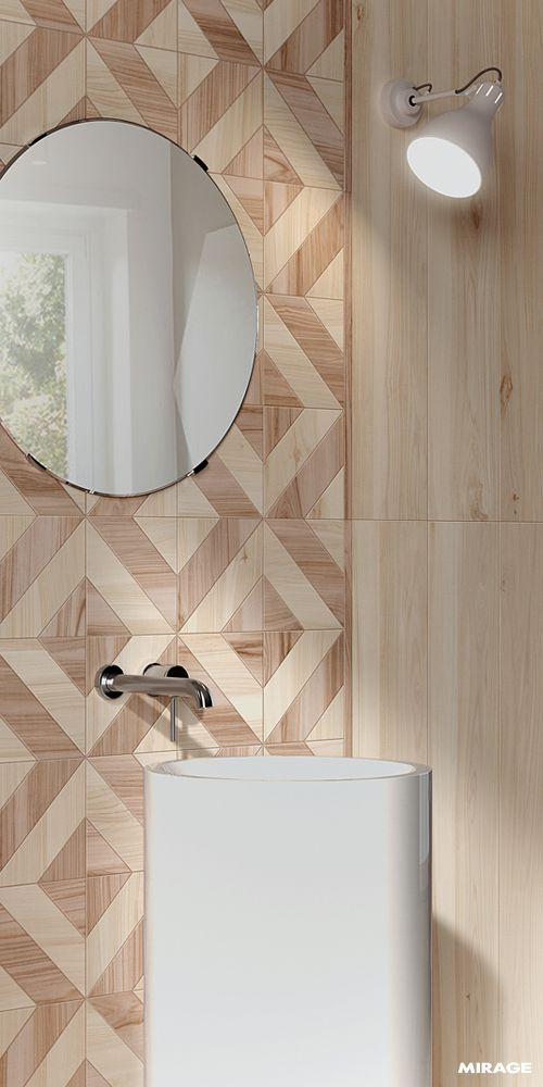 #PorcelainStoneware is the perfect choice for a #woodeffect in your bathroom: it reproduces the natural allure of Wood with an authentic texture and appearance and pays attention to the safety aspect and practical advantages. Discover the new #Koru collection: https://www.mirage.it/en/floors-and-coverings/collections/koru/ #miragetile #porcelaintile #bathroom #woodtiles #woodbathroom #bathroomideas  #bathroomdesign  #bathroomfloor #interior #interiordesign #dreamhome #homeideas #homedesign