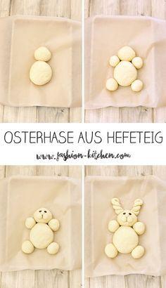 Osterhase aus Hefeteig, Schritt für Schritt Anleitung, Ostern, Easter, Osterhase, Easterbunny, Hefeteig, Fashion Kitchen, backen, Häschen, Hase