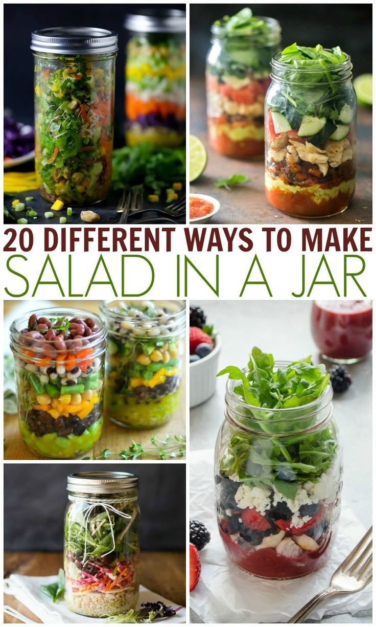 Summer Salads In A Jar Ideas your family will love!