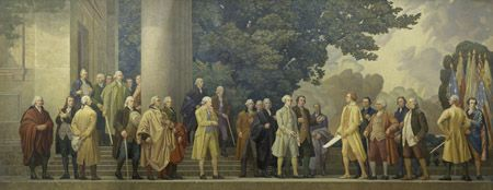 usnatarchives:  It's time for a July 4 pop quiz!  Who was the oldest signer of the Declaration of Independence? Who was the youngest signer of the Declaration of Independence? How many of the signers were born in Great Britain? Which two future Presidents signed the Declaration of Independence? How many men signed the Declaration of Independence? How many of the signers were clergymen?    [Answers: Franklin; Edward Rutledege, age 26; eight; John Adams and Thomas Jefferson;56; 2]  If you…